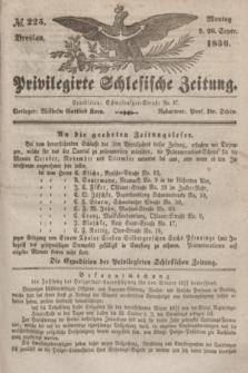 Privilegirte Schlesische Zeitung. 1836, № 225 (26 September) + dod.