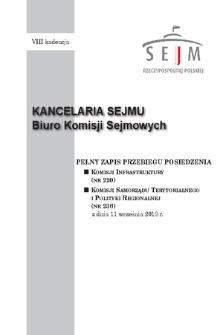 Pełny Zapis Przebiegu Posiedzenia Komisji Samorządu Terytorialnego i Polityki Regionalnej (nr236) z dnia 11 września 2018 r.