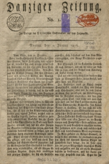 Danziger Zeitung. 1817, No. 1 (2 Januar)