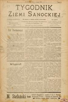 Tygodnik Ziemi Sanockiej. 1910, nr1
