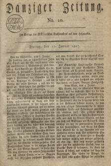 Danziger Zeitung. 1817, No. 10 (17 Januar)