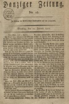 Danziger Zeitung. 1817, No. 12 (21 Januar)