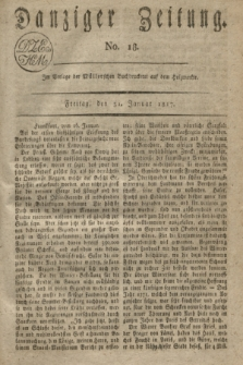 Danziger Zeitung. 1817, No. 18 (31 Januar)