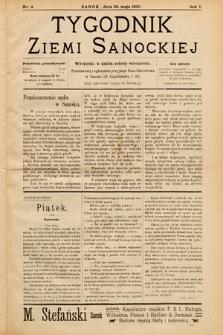 Tygodnik Ziemi Sanockiej. 1910, nr4