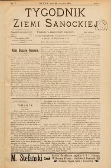 Tygodnik Ziemi Sanockiej. 1910, nr7