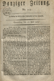 Danziger Zeitung. 1817, No. 113 (17 Juli)