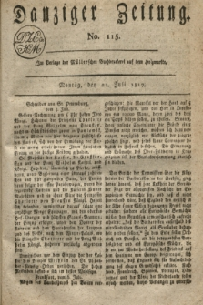 Danziger Zeitung. 1817, No. 115 (21 Juli)