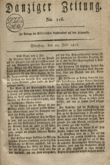 Danziger Zeitung. 1817, No. 116 (22 Juli)