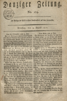Danziger Zeitung. 1817, No. 124 (5 August)