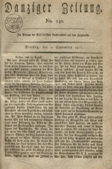 Danziger Zeitung. 1817, No. 140 (2 September)