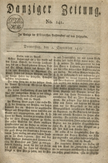 Danziger Zeitung. 1817, No. 141 (4 September)
