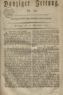 Danziger Zeitung. 1817, No. 148 (16 September)