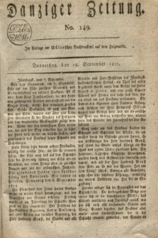 Danziger Zeitung. 1817, No. 149 (18 September)