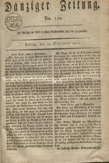 Danziger Zeitung. 1817, No. 150 (19 September)