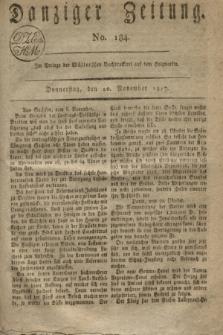 Danziger Zeitung. 1817, No. 184 (20 November)