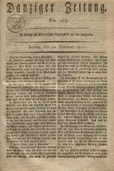 Danziger Zeitung. 1817, No. 185 (21 November)