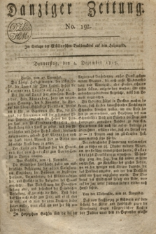 Danziger Zeitung. 1817, No. 192 (4 Dezember)