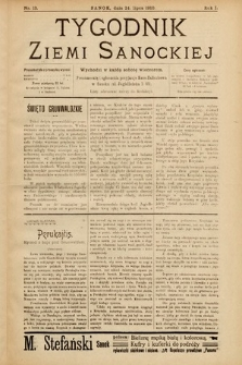 Tygodnik Ziemi Sanockiej. 1910, nr13