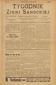 Tygodnik Ziemi Sanockiej. 1910, nr15