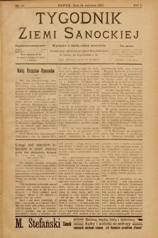Tygodnik Ziemi Sanockiej. 1910, nr16