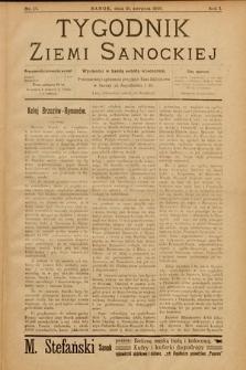 Tygodnik Ziemi Sanockiej. 1910, nr17