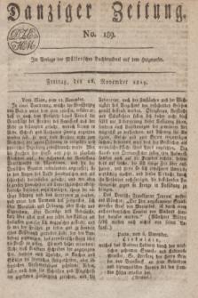 Danziger Zeitung. 1819, No. 189 (26 November)