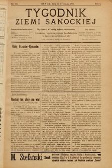 Tygodnik Ziemi Sanockiej. 1910, nr20