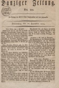 Danziger Zeitung. 1819, No. 200 (16 December)