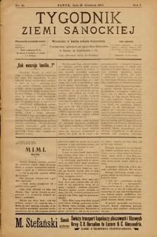 Tygodnik Ziemi Sanockiej. 1910, nr21