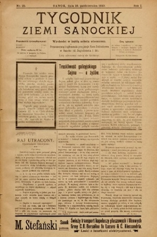 Tygodnik Ziemi Sanockiej. 1910, nr25