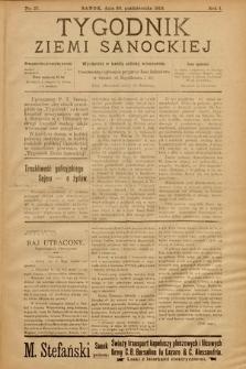 Tygodnik Ziemi Sanockiej. 1910, nr27