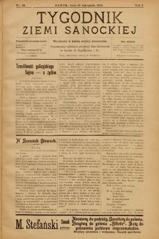 Tygodnik Ziemi Sanockiej. 1910, nr29