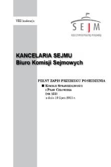 Pełny Zapis Przebiegu Posiedzenia Komisji Sprawiedliwości i Praw Człowieka (nr153) z dnia 19 lipca 2018 r.