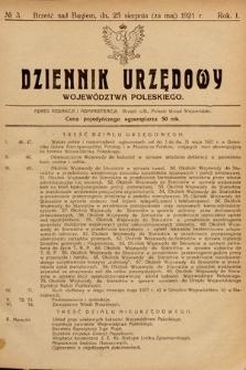 Dziennik Urzędowy Województwa Poleskiego. 1921, nr3