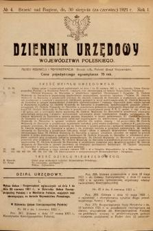 Dziennik Urzędowy Województwa Poleskiego. 1921, nr4