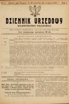 Dziennik Urzędowy Województwa Poleskiego. 1921, nr6