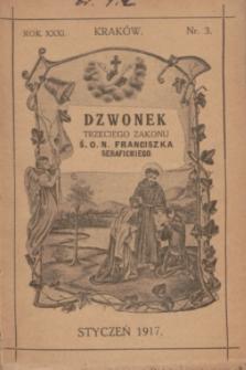 Dzwonek Trzeciego Zakonu Ś. O. N. Franciszka Serafickiego. R.31, nr 3 (styczeń 1917)