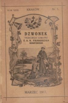 Dzwonek Trzeciego Zakonu Ś. O. N. Franciszka Serafickiego. R.31, nr 5 (marzec 1917)