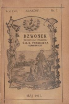 Dzwonek Trzeciego Zakonu Ś. O. N. Franciszka Serafickiego. R.31, nr 7 (maj 1917)