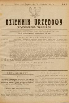 Dziennik Urzędowy Województwa Poleskiego. 1921, nr7