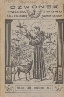 Dzwonek Trzeciego Zakonu S. O. N. Franciszka Serafickiego. R.44, nr 1 (styczeń 1930)