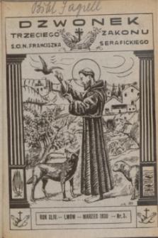 Dzwonek Trzeciego Zakonu S. O. N. Franciszka Serafickiego. R.44, nr 3 (marzec 1930)