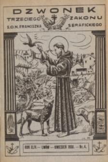 Dzwonek Trzeciego Zakonu S. O. N. Franciszka Serafickiego. R.44, nr 4 (kwiecień 1930)