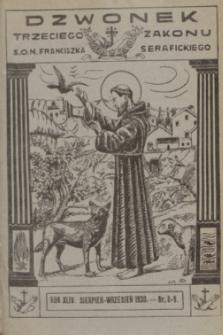 Dzwonek Trzeciego Zakonu S. O. N. Franciszka Serafickiego. R.44, nr 8-9 (sierpień-wrzesień 1930) + dod.