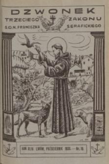 Dzwonek Trzeciego Zakonu S. O. N. Franciszka Serafickiego. R.44, nr 10 (październik 1930) + dod.