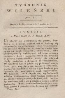 Tygodnik Wileński. T.3, Ner 61 (14 stycznia 1817)