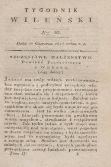 Tygodnik Wileński. T.4, Ner 83 (17 czerwca 1817)