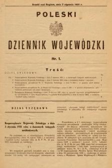Poleski Dziennik Wojewódzki. 1931, nr1