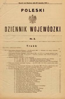 Poleski Dziennik Wojewódzki. 1931, nr2