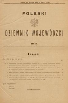 Poleski Dziennik Wojewódzki. 1931, nr3